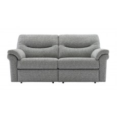 G Plan Washington Fabric 3 Seater Power Recliner Sofa Double