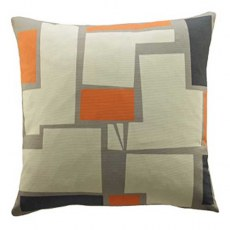 G Plan Vintage Wonky Pixel Orange Scatter Cushion