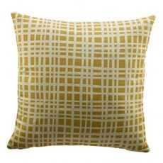 G Plan Vintage Grid Mustard Scatter Cushion