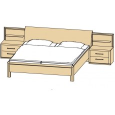 Disselkamp Coretta Double Bed (With Shelves)