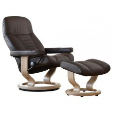 Stressless Consul Small Recliner with Stool