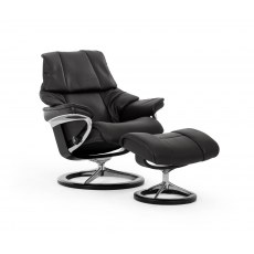 Stressless Reno Large Recliner with Stool