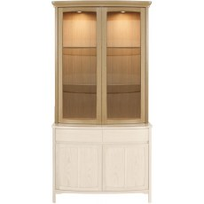 Nathan Shades Oak Shaped 2 Glass Door Display Top Unit