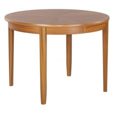 Circular Dining Table on Legs with Sunburst Top  - Teak
