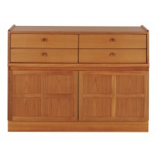 4 Drawer Mid Storage Unit - Teak