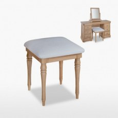 TCH Lamont Bedroom Stool in Oak Finish.