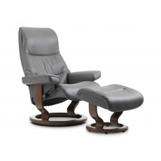 Stressless View Medium Recliner with Footstool