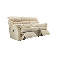 G Plan Malvern Fabric 3 Seater Recliner Sofa Double
