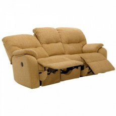G Plan Mistral Fabric 3 Seater Recliner Sofa Double
