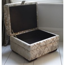 Parker Knoll Lift Top Fabric Footstool