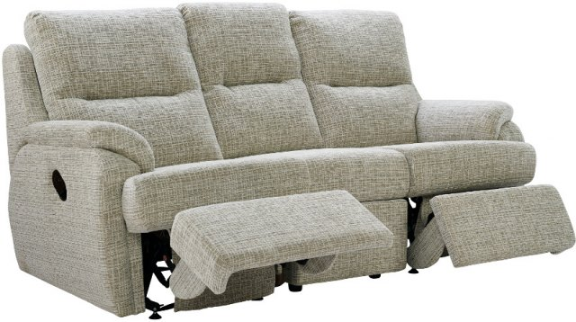 G Plan G Plan Hartford Fabric 3 Seater Power Recliner Sofa Double