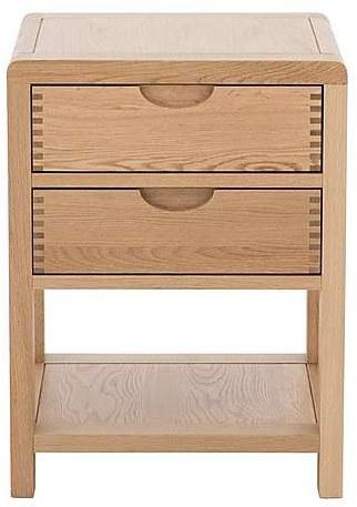 new style 32b09 de7b5 Ercol Bosco 2 Drawer Bedside Cabinet