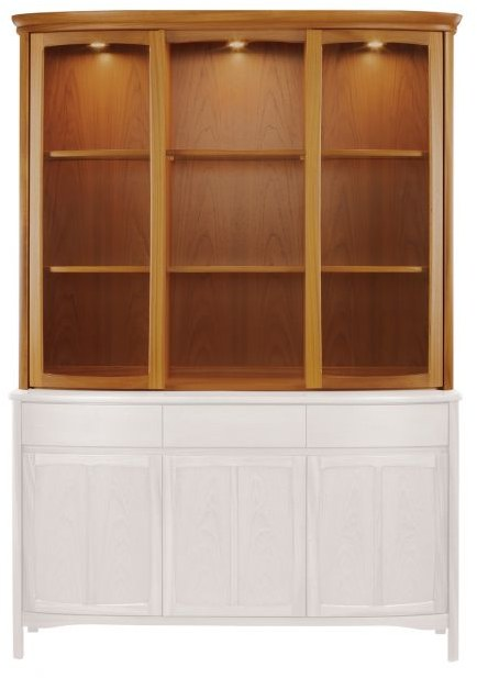 Nathan Shaped Glass Display Unit   Teak   Cabinets U0026 Display Units   Hunter  Furnishing