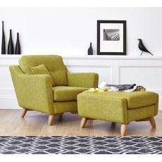 Ercol Cosenza Fabric Footstool