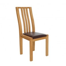 Ercol Bosco Dining Chair - Brown Fabric