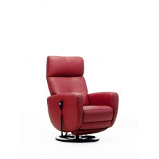 Rom Premium Swivel Man. Rec. Chair Leather