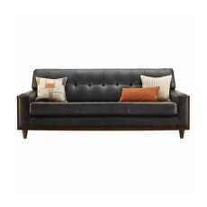 G Plan Vintage The Fifty Nine Leather Large Sofa