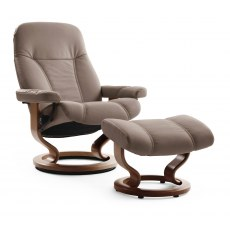 Stressless Consul Large Recliner with Stool