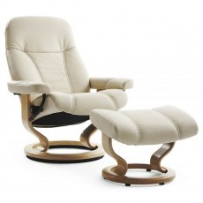 Stressless Consul Medium Recliner with Stool