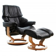 Stressless Reno Medium Recliner with Stool