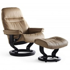 Stressless Sunrise Small Recliner with Stool