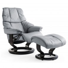 Stressless Reno Small Recliner with Stool