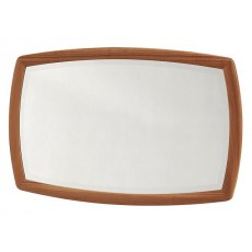 Nathan Shaped Wall Mirror  - Teak