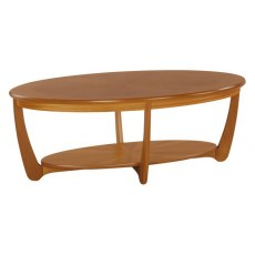 Sunburst Oval Coffee Table  - Teak