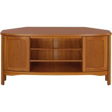 Shaped Corner TV Unit - Teak