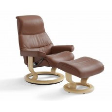 Stressless View Small Recliner with Footstool
