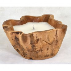 Large Outdoor Teak Candle