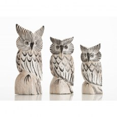 Set of 3 Small Owls