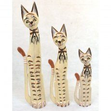 Set of 3 Large Cats