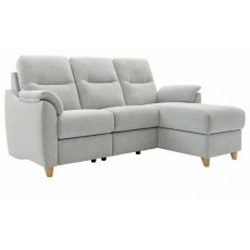 G Plan Spencer 3 Seater Chaise Sofa in Fabric - Storage