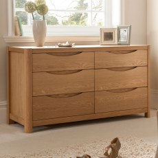 Stockholm Wide 6 Drawer Dressing Chest.