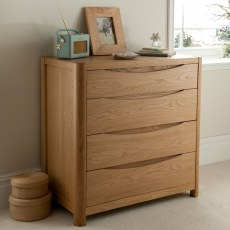 Stockholm 4 Drawer Chest.