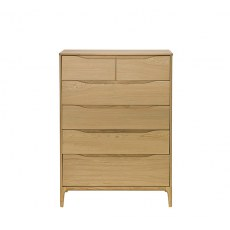 Ercol Rimini 6 Drawer Tall Wide Chest