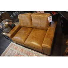 Maximus 2 Seater Tan Leather
