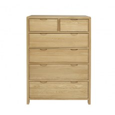 Ercol Bosco 6 Drawer Tall Wide Chest.