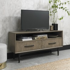 Loft Vintage Weathered Oak Media Unit