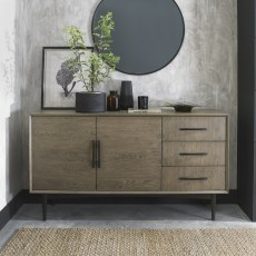 Loft Vintage Weathered Oak Wide Sideboard