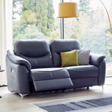 G Plan Jackson 2 Seater DBL Eclectic recliner Leather Sofa