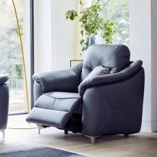 G Plan Jackson Leather Manual Recliner Armchair