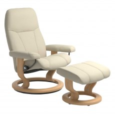 Stressless Consul Large Recliner with Stool SPECIAL OFFER