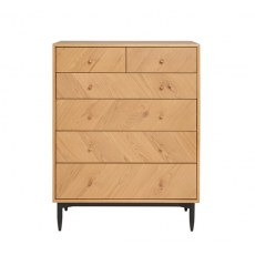 Ercol Monza 6 Drawer Tall Wide Chest