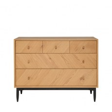 Ercol 5 Drawer Wide Chest