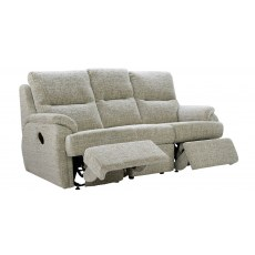 G Plan Hartford Fabric 3 Seater Power Recliner Sofa Double
