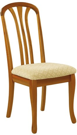 Sutcliffe Sutcliffe Trafalgar Slatted Back Rounded Top Dining Chair