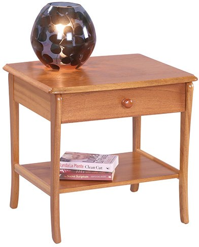 Sutcliffe Sutcliffe Trafalgar Lamp Table with Drawer and Lower Shelf