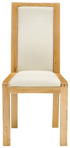 Ercol Ercol Bosco Padded Back Dining Chair - Cream Fabric